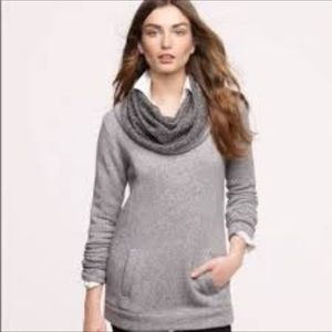 J.Crew Grey Funnel Neck Front Pocket Sweater M